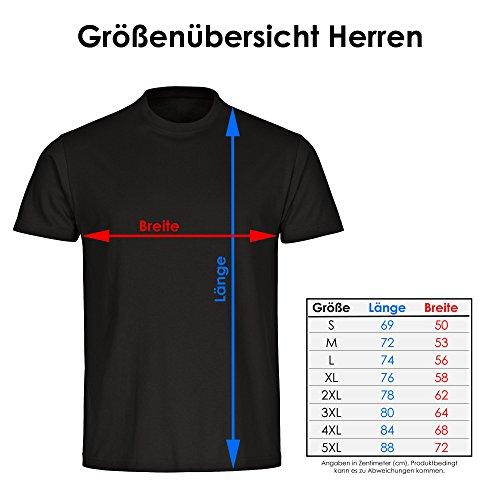 T-Shirt Classic I Love Rugby schwarz Herren Gr. S bis 5XL