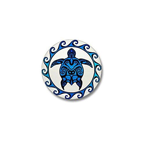 Pins Lapel Samoa (CafePress Maori Tribal Blue Turtle Mini Button 1