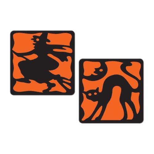 Beistle 8 Pack Halloween Coasters 2 Inch