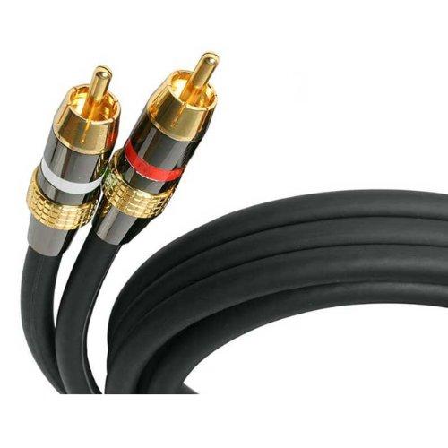 (StarTech.com Premium - Audio cable - RCA (M) - RCA (M) - 50 ft - black (AUDIORCA50))
