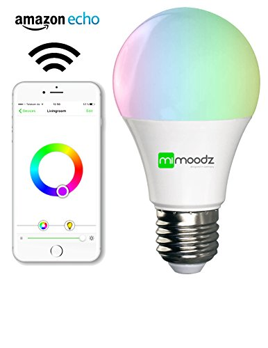 mimoodz smart led light bulb a19 works with amazon alexa bright soft white colorful. Black Bedroom Furniture Sets. Home Design Ideas