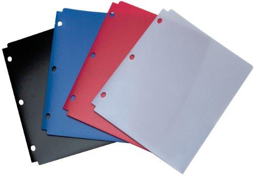 Carpeta Wilson Jones Snapper, tamaño carta, dos bolsillos, surtido clásico de colores (A7040023)