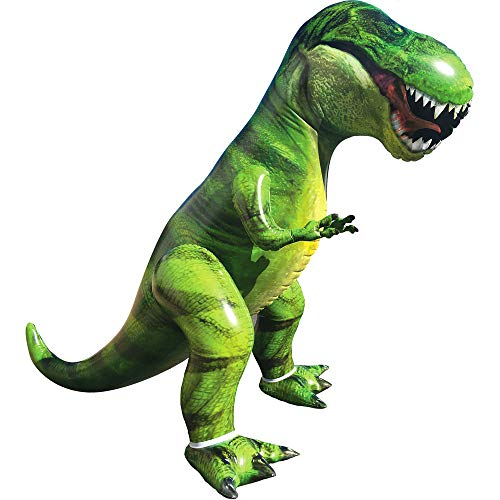Giant T-Rex Dinosaur Inflatable for Pool Party Decorations, Birthday Party Gift for Kids and Adults (Over 5Ft. Tall) -