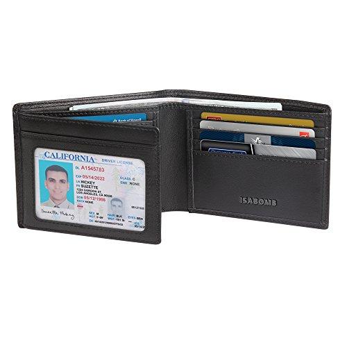 Men Wallet,RFID Blocking Genuine Leather Wallet Trifold Bifold Money Clip [Handmade] Wallet for Men