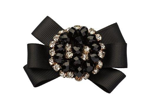 La Loria Accessoires Femme Clips pour chaussures Graceful dans la couleur noir-bleu, vendus par paire E 100