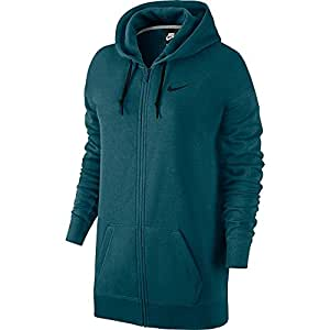 Nike Womens Club Boyfriend Fit Full-Zip Hoodie #684901-307 (XS)