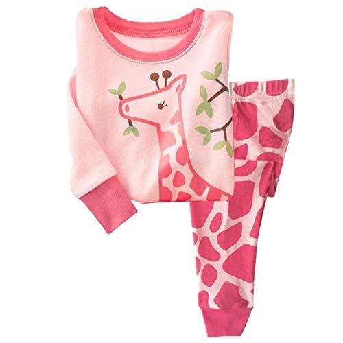 Qtake Fashion Girls Pajamas Set Children Clothes Set 100% Cotton Toddler Pjs Sleepwear Dinosaur PJS Size 12M-12T (Pajamas9, -