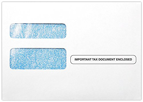 (W-2/1099 Envelopes (5 3/4 x 8) - 24lb. White - Preprinted Important Tax Document Enclosed (50 Qty.) | Easily send important documents this Tax Season |)