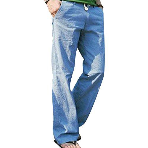 Washed Linen / Cotton Pants - 8