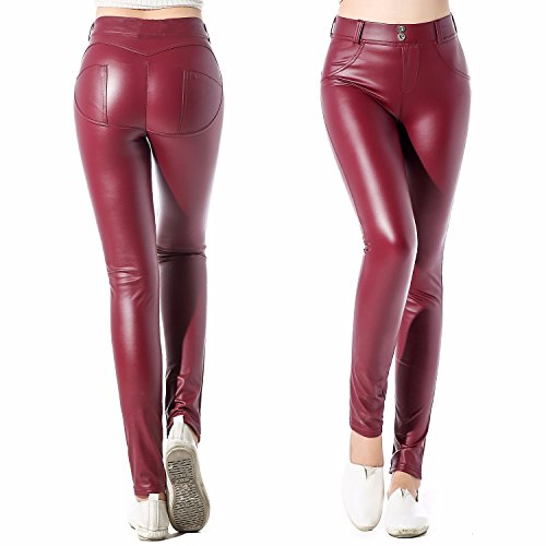 Red Leather Pants - 6