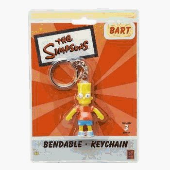 Bart Simpson Bendable Llavero Mochila Gancho: Amazon.es ...