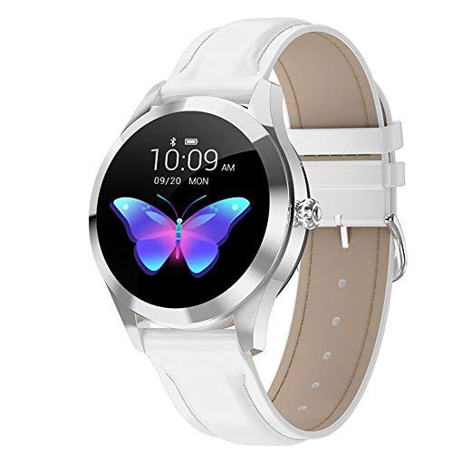 LEKANI 2020 Smart Uhr KW10 Frauen wasserdichte IP68 Herz Rate Monitor Fitness Tracker Weibliche Smartwatch Verbinden Für Android IOS