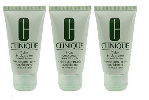 Lot of 3 Clinique 7 Day Scrub Cream Rinse-off Formula 30ml E