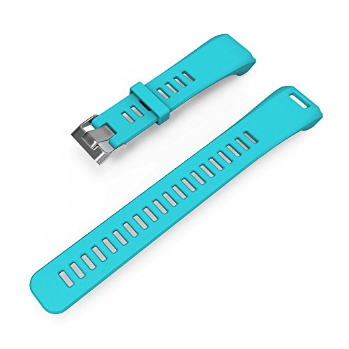 Joberry Watchband for Garmin Vivosmart HR Silicone Wrist Strap Sports Wristband (Sky Blue)