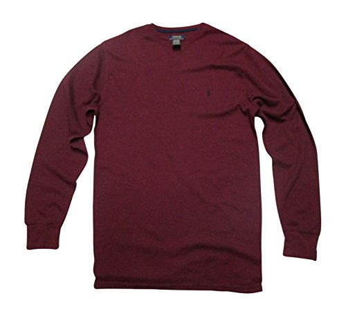 Polo Ralph Lauren Men's Big & Tall Solid Waffle-Knit Crew-Neck Thermal Top, 4X ()