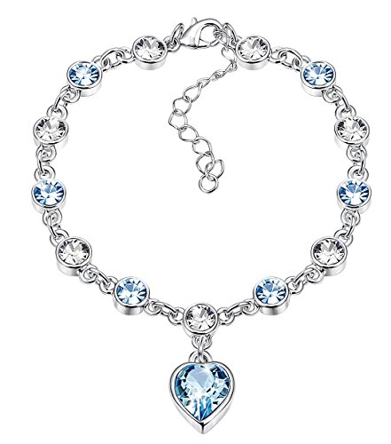 Kesaplan Heart Crystal Bracelet for Women Crystals From Swarovski Anniversary Gifts for Her 7