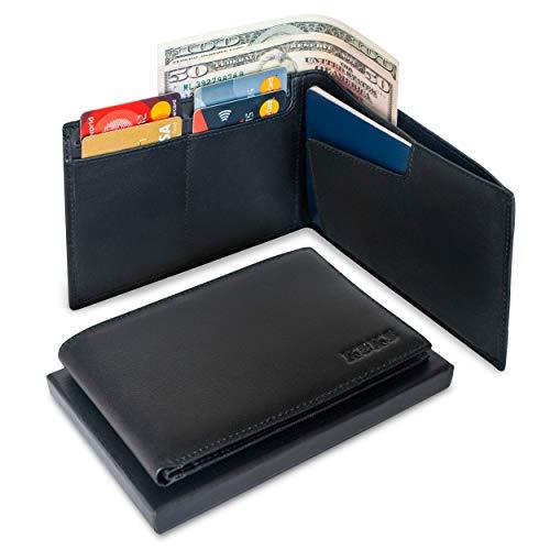 Genuine Leather Passport Holder - RFID Travel Organizer Wallet - Document Case