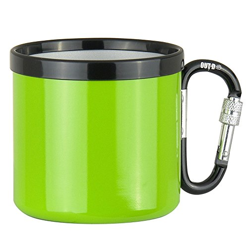 docooler Outdoor Camping Ultralight Portable 400ML Aluminum Alloy Travel Water Cup with Screw Lock Buckle
