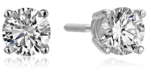 Certified Gold Created Diamond Earrings