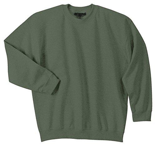 (GotApparel Men's Heavy Blend Crewneck Waistband Sweatshirt_Military Green_2XL)