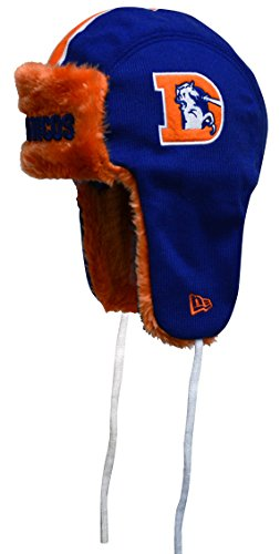 NFL Throwback New Era Helmet Head Knit Trapper, One Size (One Size, Denver Broncos)