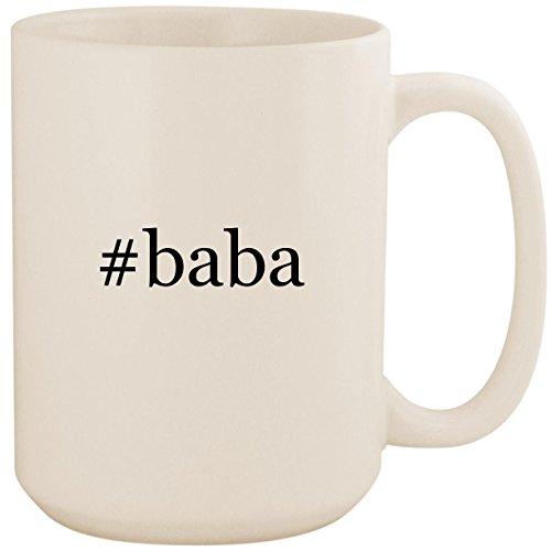 #baba - White Hashtag 15oz Ceramic Coffee Mug Cup