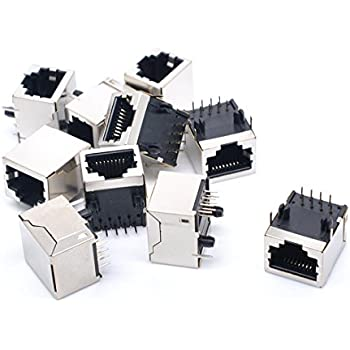 MagiDeal 40pcs Mini Small PCB RJ45 Ethernet Connector Breakout Board Module