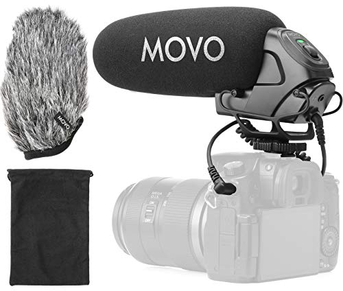 Movo VXR3030 Supercardioid On-Camera Shotgun Microphone with