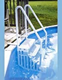 Confer Gray 4-Step Above Ground Swimming Pool Smart Step/Ladder Entry System