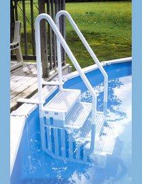 Confer Plastics Gray 4-Step Above Ground Swimming Pool Sm...