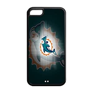 Custom Miami Dolphins NFL Series Back Cover Case for iphone 5C by mcsharks