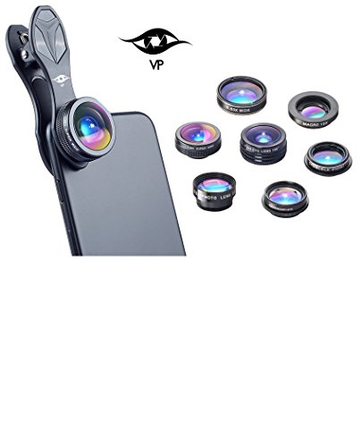 ViewPoint 7 in 1 Professional Clip On Camera Lens System For iPhone X, 8, 8 Plus, 7, 7 Plus, 6s, 6, 5s Samsung, Smartphones, Cellphones & Tablets - Fish Eye - Instagram Iphone 5s Case