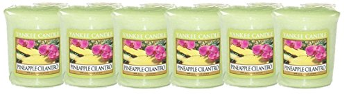 - Yankee Candle 6 Single Scent Sampler Votive Pack Pineapple Cilantro