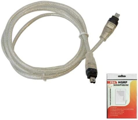 Cord compatible with Panasonic PV-DV351 PV-DV400 PV-DV401 PV-DV402 Camcorder plus HQRP LCD Screen Protector HQRP IEEE 1394 4pin to 4pin Cable