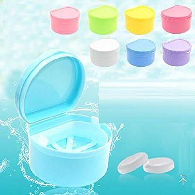 Cuidado caja de dientes llaves dentadas caja de limpieza masticar caja de ortesis de plástico caja de limpieza de dentaduras caja de almacenamiento con filtro-Paquete recomendado: Amazon.es: Bebé