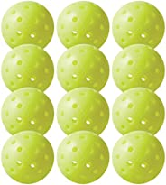 Franklin Sports X-40 Outdoor Performance Pickleballs - 12 Pack Bulk - USAPA Approved - Optic
