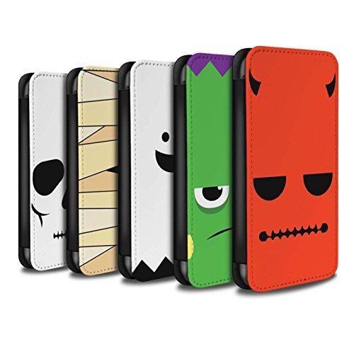 Stuff4 Coque/Etui/Housse Cuir PU Case/Cover pour Apple iPhone 4/4S / Pack 5pcs Design / Personnage Halloween Collection