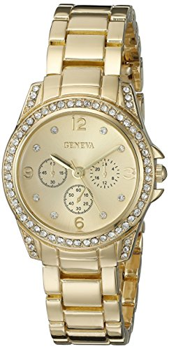 Geneva FMDG002 14mm Alloy Gold Watch (Geneva Gold Bracelets)