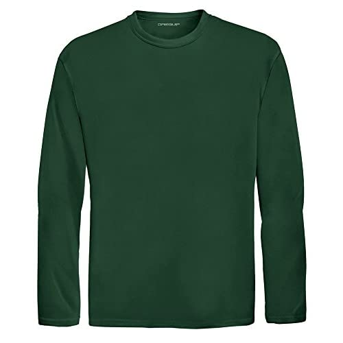 Wholesale DRI-EQUIP Youth Long Sleeve Moisture Wicking Athletic Shirts. Youth Sizes XS-XL hot sale