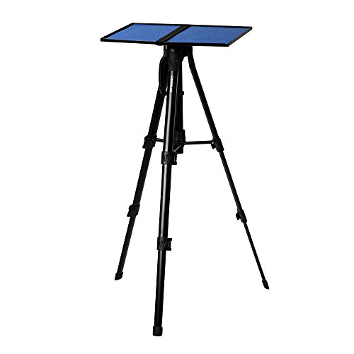 Projector Tripod Stand Cheerlux Height Adjustable 16-47 for Projector Laptop in Office Classroom Home with Plate Tray Black Color by Cheerlux