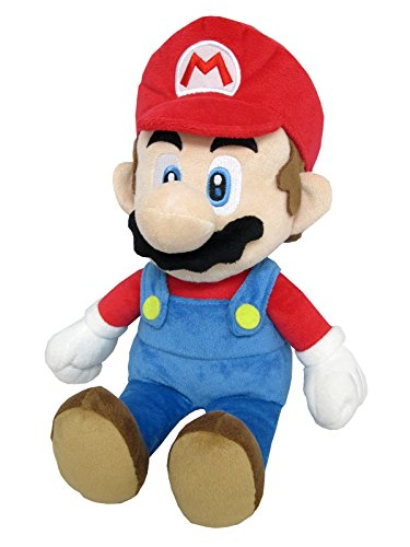 Little Buddy 1583 Super Mario All Star Collection - 1583 - Mario Medium Stuffed Plush, 14