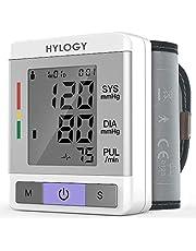 Misuratore di Pressione da Polso, Hylogy Sfigmomanometro da Polso Professionale e Pulsazione Rilevazione p Digitale Automatico, 180 Memorie di Misura per 2 Utenti, Certifica CE/FDA