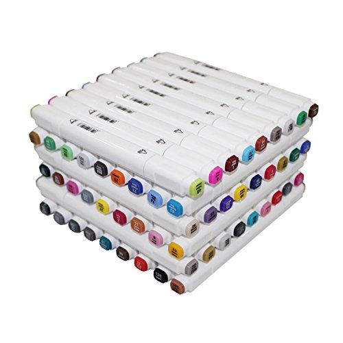 excellent cadeau pour /étudiants artiste enfants Double Pointe Graphic Couleurs Marqueurs Twin Marker Pachock 60 Couleurs Art Croquis Stylos Marqueurs Permanents