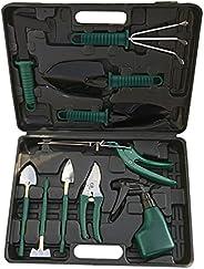 Romacci 10 peças Conjuntos de ferramentas de jardim doméstico Ferramentas essenciais de jardinagem Kit inicial