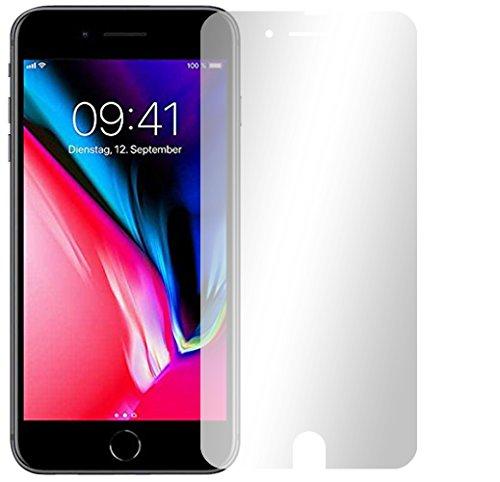 4 x Slabo pellicola protettiva per display iPhone 8 Plus protezione display (pellicole rimpicciolite, a causa della convessità del display) Crystal Clear invisibile MADE IN GERMANY