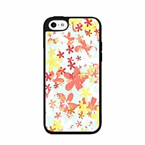 Brush Flowers TPU RUBBER SILICONE Phone Case Back Cover iPhone 4 4s