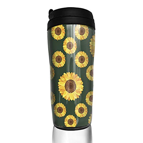 Bei Tang Coffee Cup Best Sunflower Travel Tumbler Insulated Leak Proof Drink Containers Holder Amazing 12 Ounces