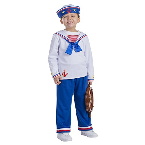 Sailor Boy Costume - Size Toddler 4