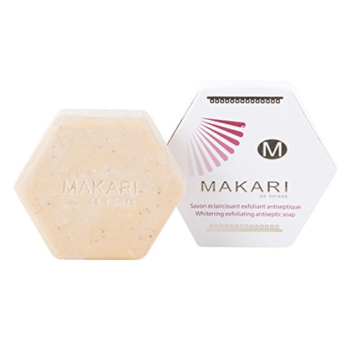Makari Classic Whitening Exfoliating Antiseptic Soap 7 oz. – Cleansing & Moisturizing Bar Soap for Face & Body – Brightens Skin & Fades Dark Spots, Acne Scars, Blemishes & Hyperpigmentation
