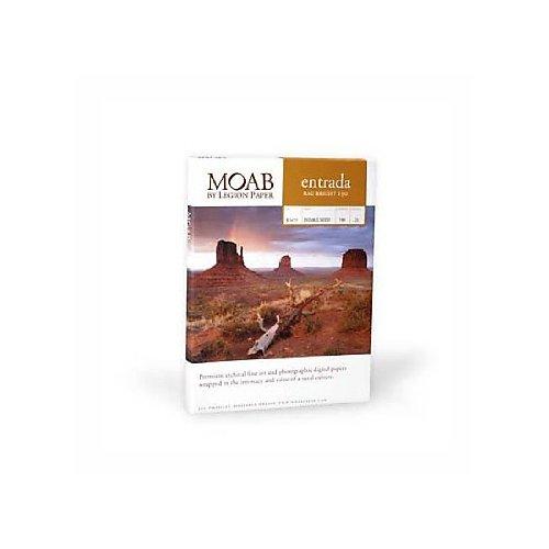Bright Inkjet Paper Matte White (Moab Entrada Rag Fine Art, 2-Side Bright White Matte Inkjet Paper, 15.5 mil., 190gsm, 11x17